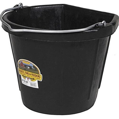 Duraflex Flat Back Rubber Bucket