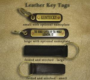 Kentucky Horseman Leather Key Tag - Folded & Stitched - Large