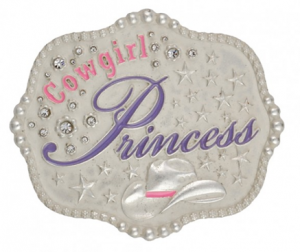 Cowgirl Princess Kid's Attitude Buckle