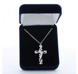 Filigree Silver Cross Necklace