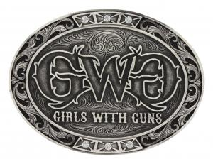 Girls With Guns Triple Bling Attitude Buckle