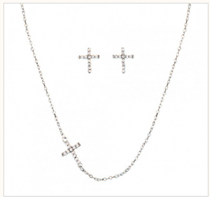 Quiet Faith, Tiny Crystal Cross Set