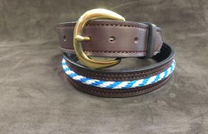 Rope Inlay Leather Belt