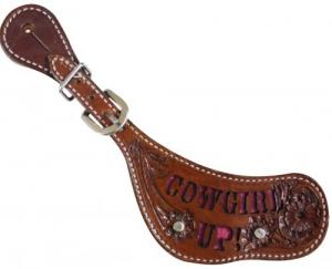"Ladies ""Cowgirl Up"" Spur Straps"