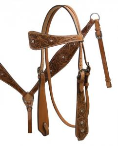 Double Stitched Headstall Breast Collar Set