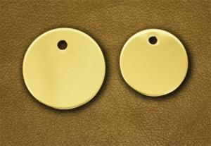 "Solid Brass Foal Disc - 1-1/2"" Diameter"