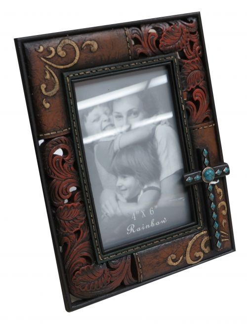 Embossed Cross Picture Frame