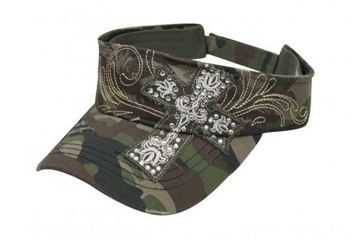 Ladies Embroidered Cross Visor