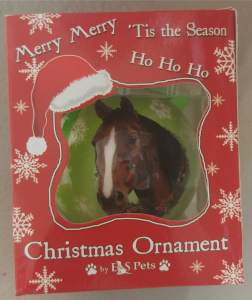 Ornament with Black or Brown Horse Head