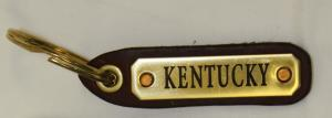Kentucky Horseman Leather Key Tag - Small