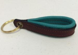 Padded Leather Key Tag