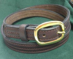 Triple-Stitched Leather Halter Belt