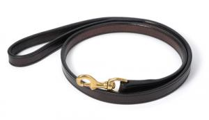 "Stitched Leather Dog Leash - 3/4"" wide, 4' - 5' long"