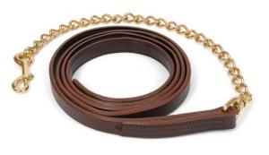 "Kentucky Leather Stallion Shank - 12' long  w/ 36""Solid Brass or Stainless Steel Chain"