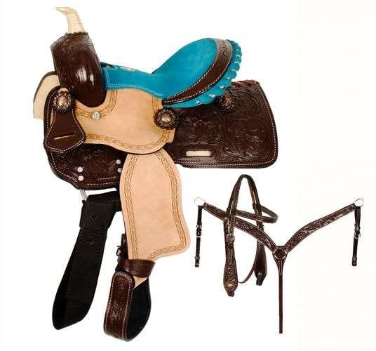 Pony Saddle Set- Turquoise