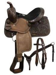 "Pony Saddle Set- 10"" Concho Sunburst"