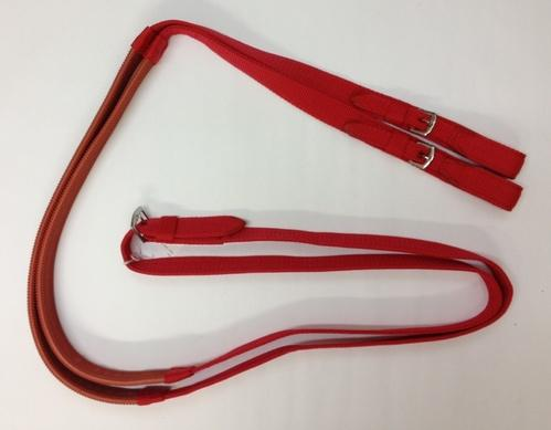 Nylon Racing Reins with Rubber Grip and Buckle Ends