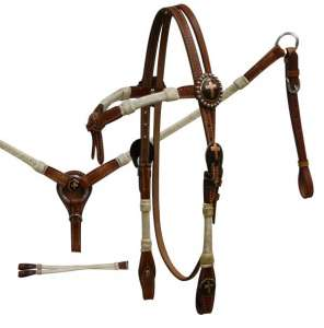 Rawhide Braided Furturity Knot Headstall and Breast Collar Set