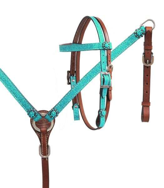 Showman Headstall, Breast Collar Glitter Set