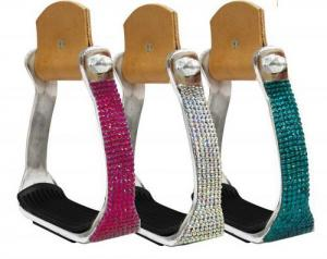 Showman Crystal Rhinestone Stirrups